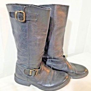 Steve Madden Women's Black Leather Knee High Boots